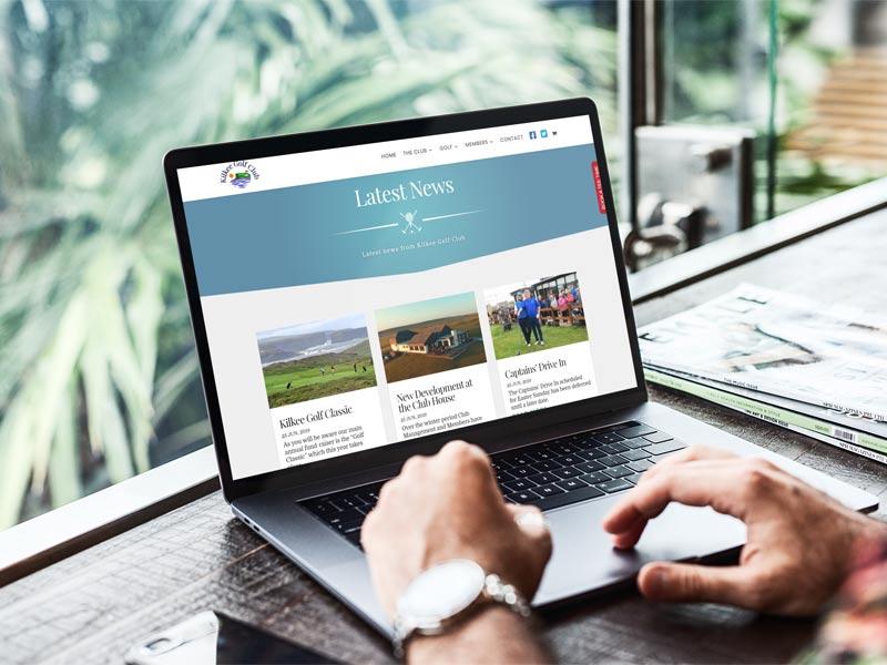 artvaark design work website kilkee golf club