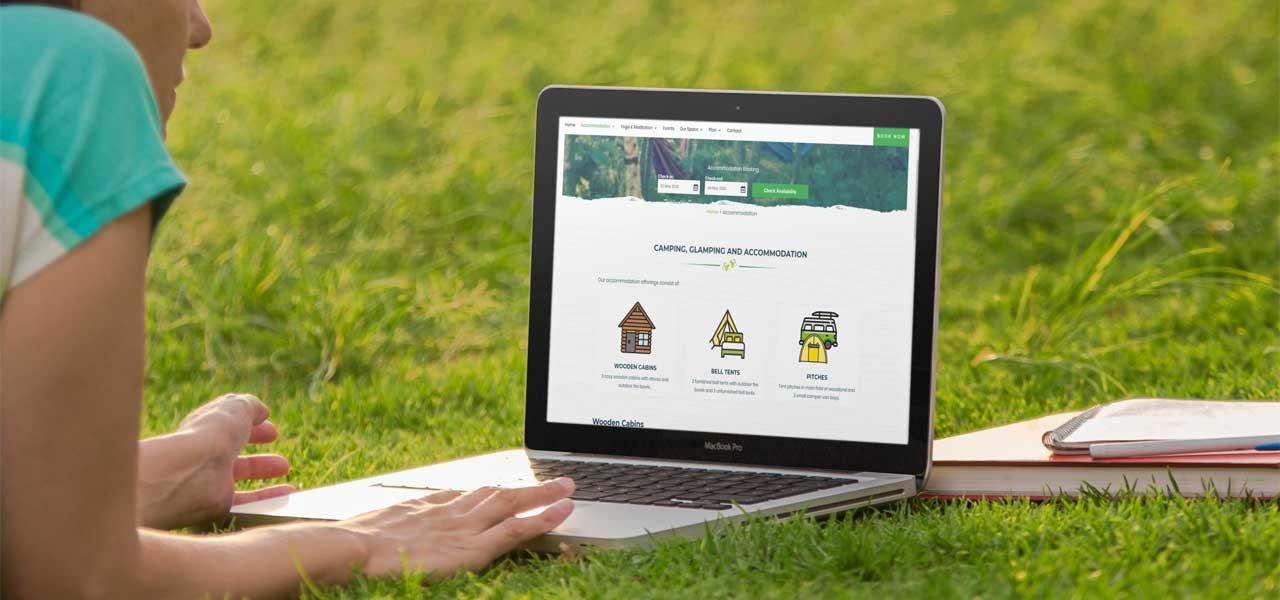 artvaark design work website purecamping county clare