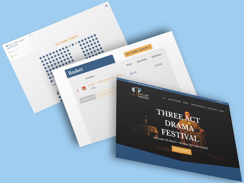artvaark design work website west clare drama festival