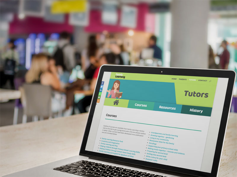 artvaark design work website family learning