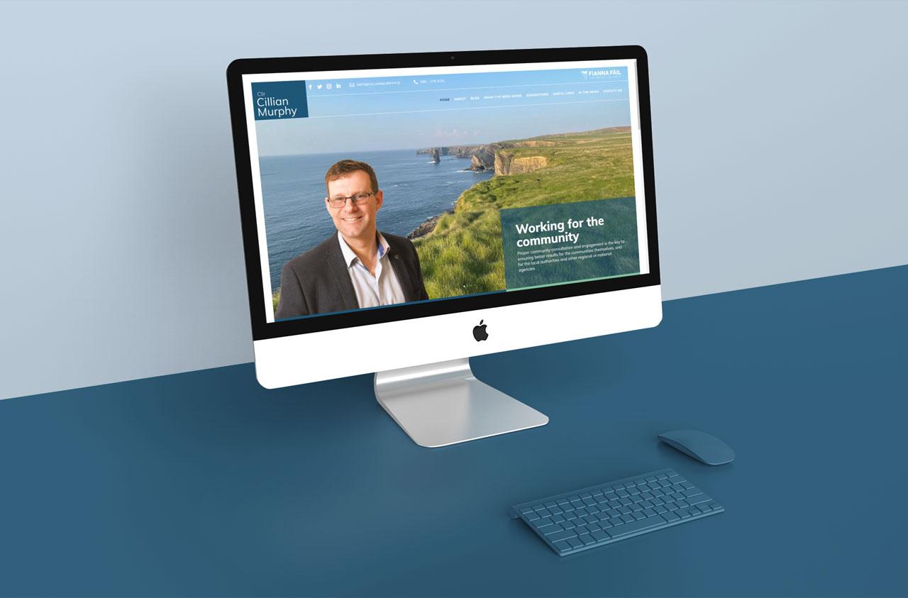 artvaark design work website Cillian Murphy Local Counsilor