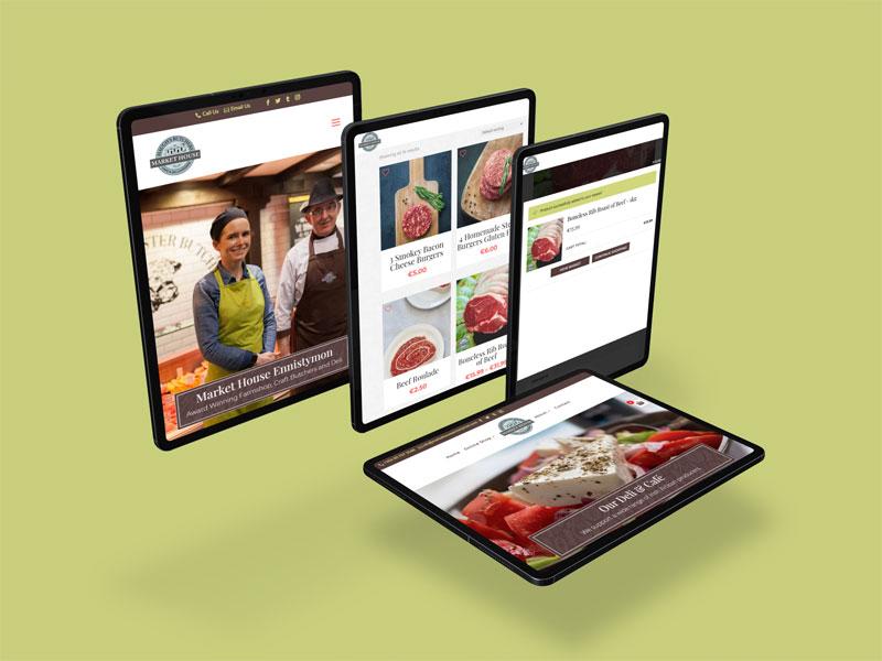 artvaark design work website Market House Ennistymon