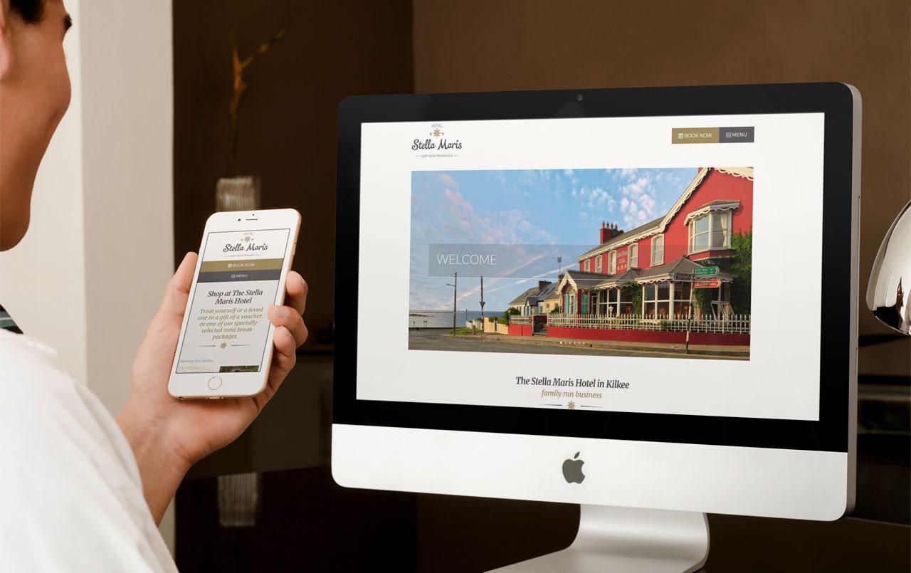 artvaark design work website Stella Maris Hotel Kilkee