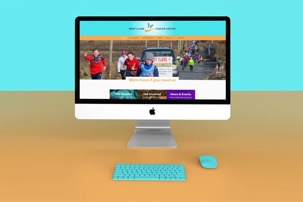 west clare cancer centre website design